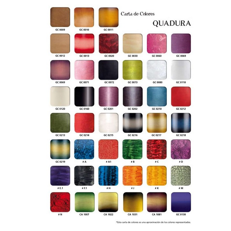 Tabla de colores quadura